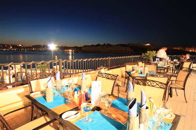 Excelsior Malta Venue - Tiki Grill at night