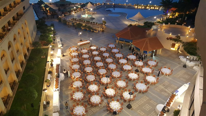 Excelsior Malta Venues - Piazza Marina set up