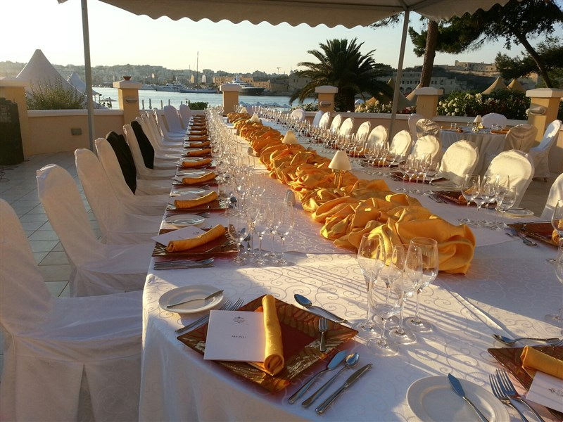 Excelsior Malta Venues -Rotunda Private Al Fresco dinner