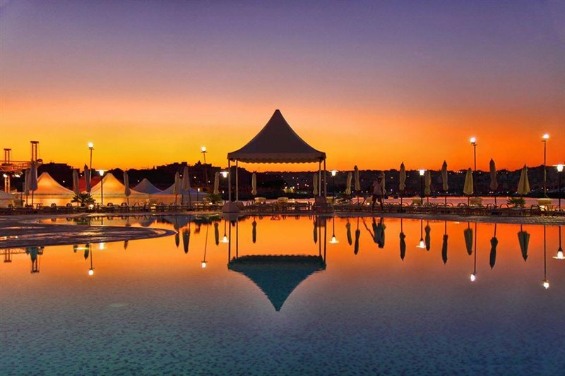 Pool Sunset at Excelsior Malta Hotel