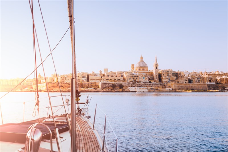 View-of-Valletta-from-Yacht-in-Grand-Harbour