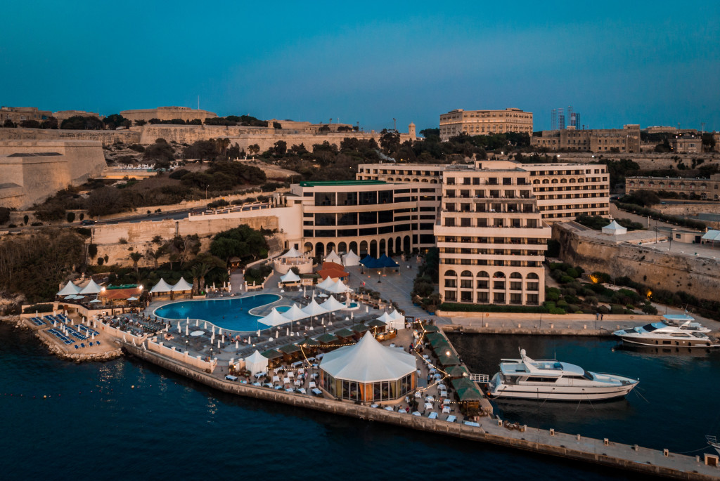 Aerial View of the Excelsior hotel Malta
