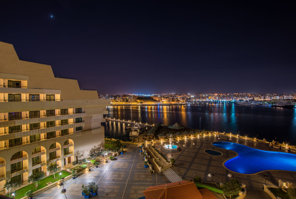 Excelsior hotel Malta evening views