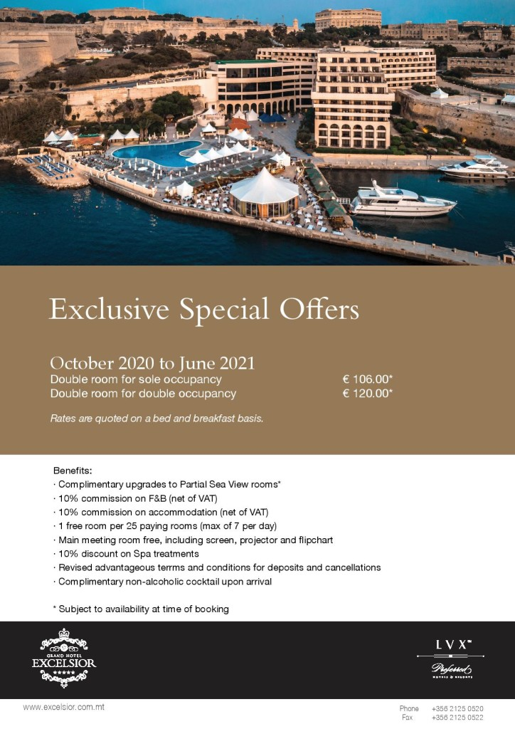 Excelsior Malta Groups Offer 2020-2021