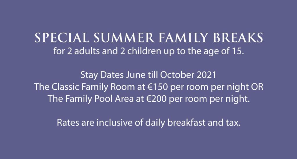 Summer Family Breaks at excelsior 2021