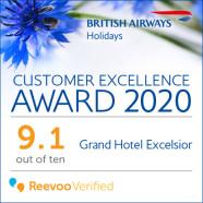 British Airways Holidays Customer Excellence Award 2020