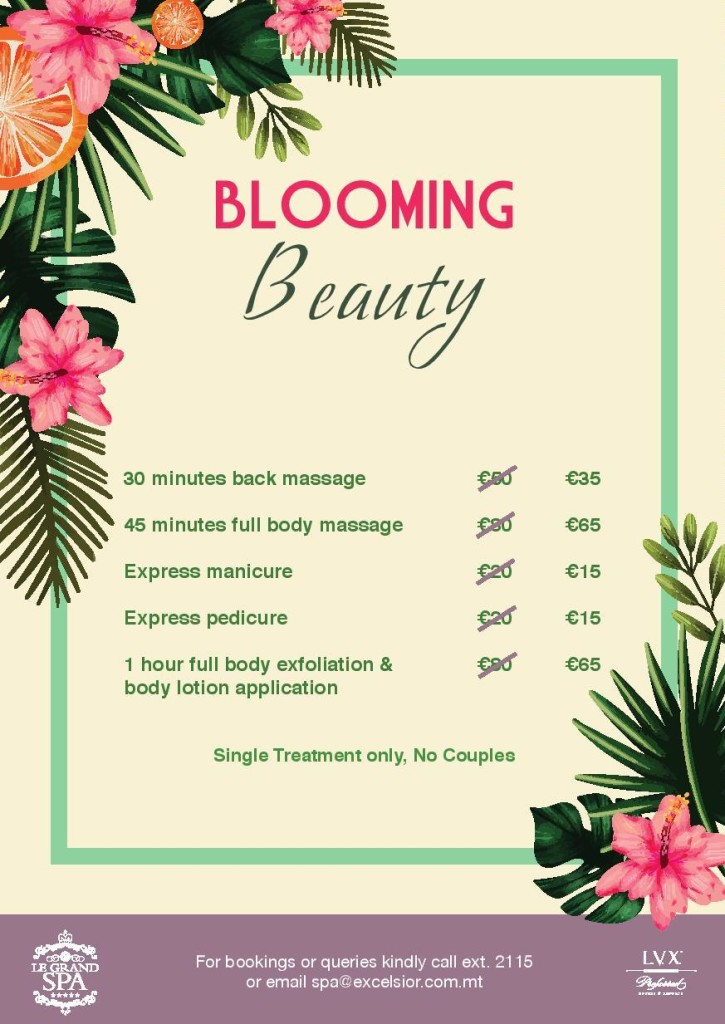 blooming beauty spa treatments 2021